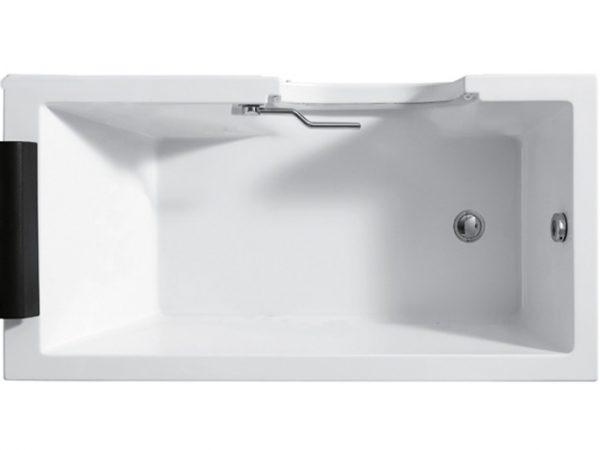 Salzburg badekar med dør set ovenfra